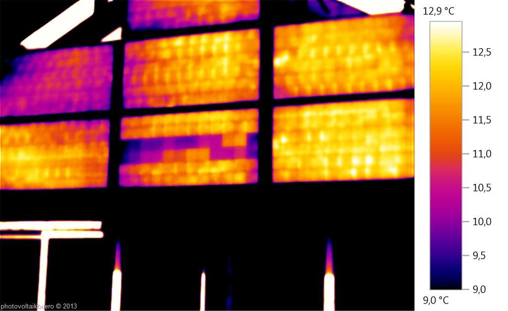 Termografia di moduli FV con diodo di bypass in cortocircuito