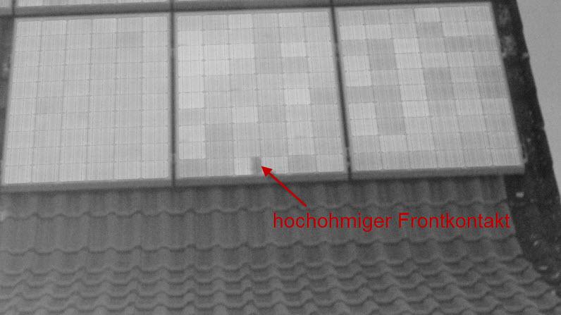 hochohmiger Frontkontakt an einer Solarzelle