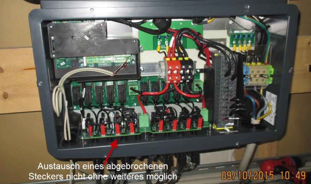 Reparatur eines MC4 Einbausteckers oft nicht möglich