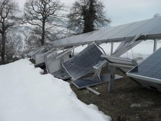 Schaden durch Einwirkung von Schnee (Quelle: Dr. Cedrik Zapfe)